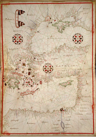 Educational Map Series: Portolan chart of the Mediterranean and Black Seas with the west coast of Spain and Portugal