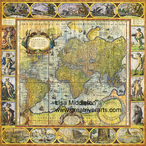 "Old World 36x36"" Charmeuse silk scarf"
