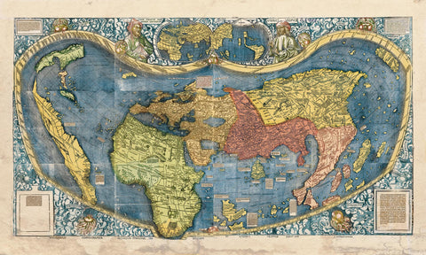 Educational Map Series: Universalis Cosmographia 1507