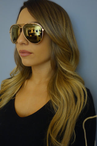 Quay Australia x Shay Mitchell Viviene Gold Sunglasses - ACCESSORIES - QUAY - Free Vibrationz