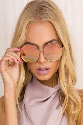 QUAY Kiss And Tell Sunglasses Rose Gold - ACCESSORIES - QUAY AUSTRALIA - Free Vibrationz - 1