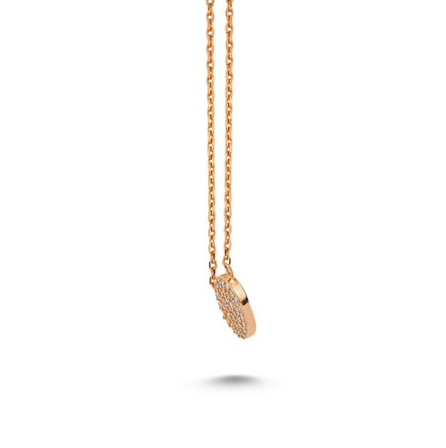 Amorium Stone Dot Rose Gold Necklace- ACCESSORIES-Amorium-Free Vibrationz