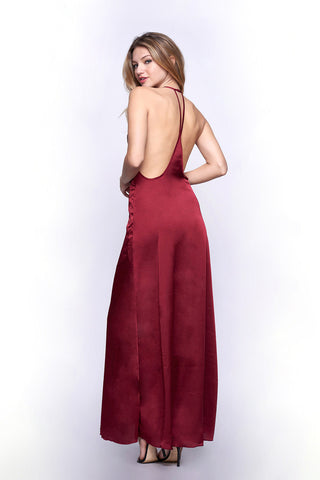 WYLDR Elegance Maxi Dress - Wine - DRESSES - WYLDR - Free Vibrationz - 1