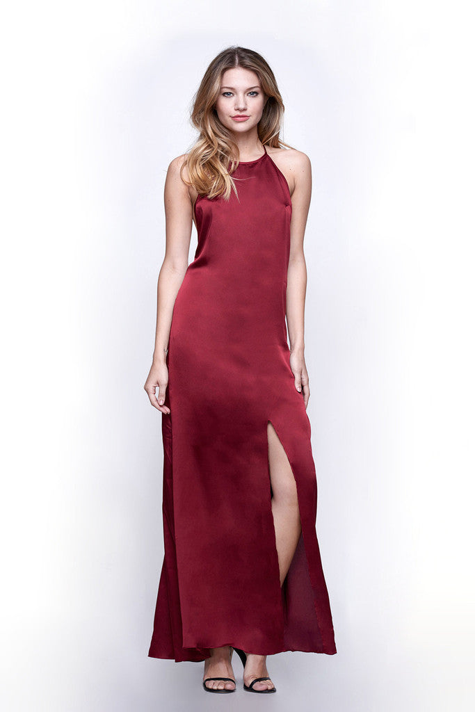 WYLDR Elegance Maxi Dress - Wine - DRESSES - WYLDR - Free Vibrationz - 2