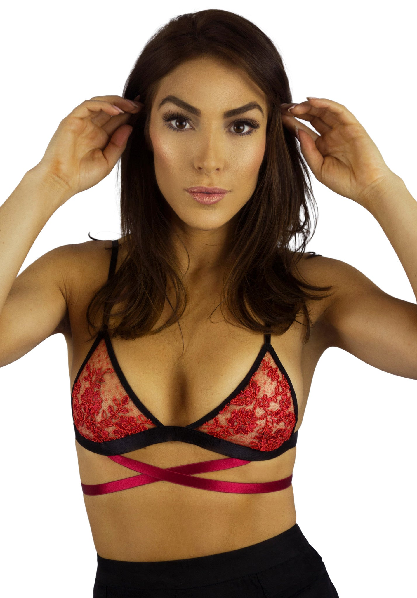 EastNWestLabel Red Gamma Bralette- Intimates-EASTNWESTLABEL-Free Vibrationz