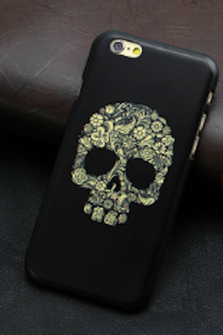 Flowered Skull Iphone 6 Phone Case - HOME SWEET HOME + GIFTS - Free Vibrationz - Free Vibrationz