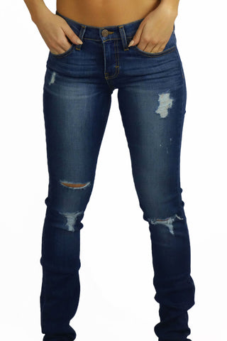 Flying Monkey Heavy Abrasion Jeans- BOTTOMS-FLYING MONKEY-Free Vibrationz