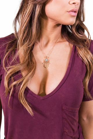 Perfect Hamsa Necklace - ACCESSORIES - Free Vibrationz - Free Vibrationz