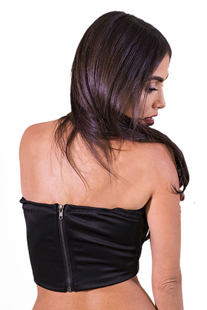 Deep V Top Black- TOPS-Free Vibrationz-Free Vibrationz