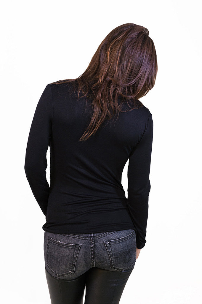 Plunging Longsleeve Top - TOPS - Free Vibrationz - Free Vibrationz - 3