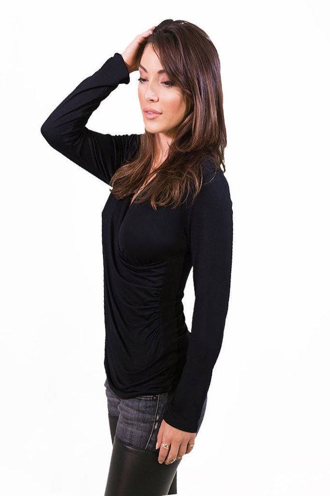 Plunging Longsleeve Top - TOPS - Free Vibrationz - Free Vibrationz - 2
