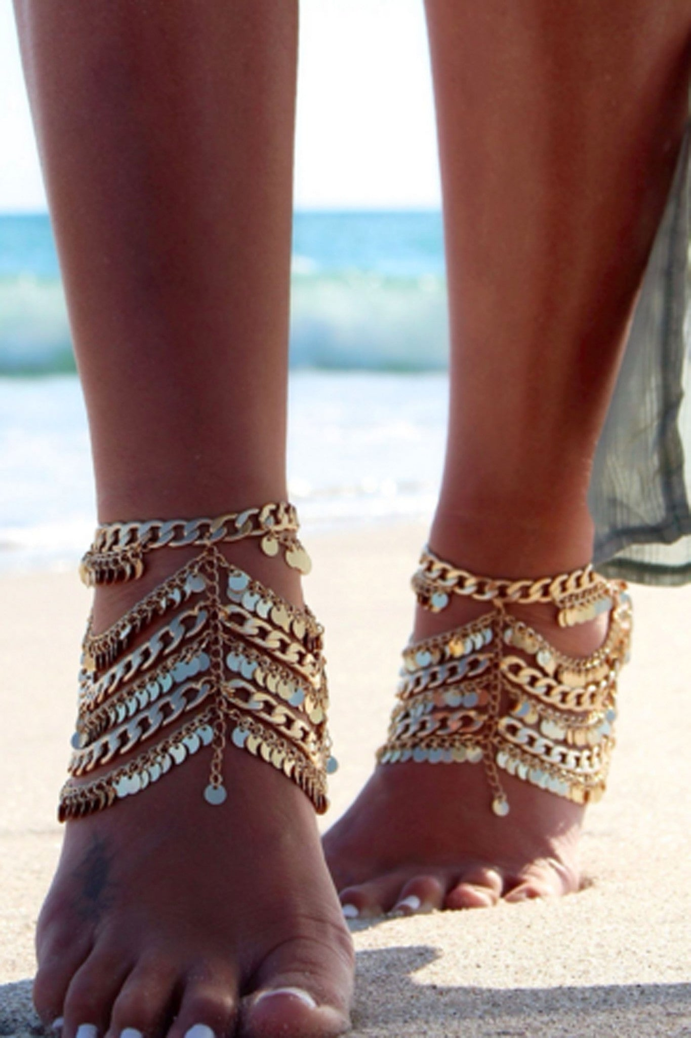 Grace Bijoux Tynuska Anklet Gold- ACCESSORIES-GRACE BIJOUX-Free Vibrationz
