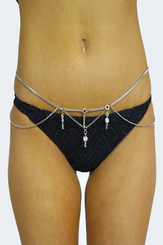 Grace Bijoux Luna Belly Chain Silver- ACCESSORIES-GRACE BIJOUX-Free Vibrationz