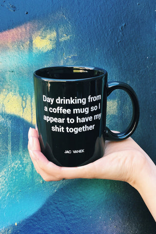 Jac Vanek Day Drinking Mug - HOME SWEET HOME + GIFTS - JAC VANEK - Free Vibrationz