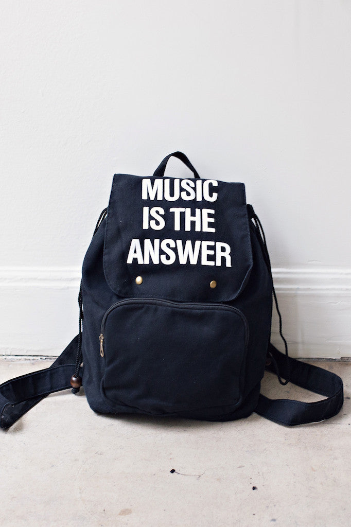 Jac Vanek Music Is The Answer Backpack - HOME SWEET HOME + GIFTS - JAC VANEK - Free Vibrationz - 2