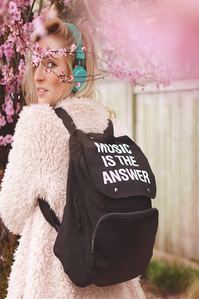 Jac Vanek Music Is The Answer Backpack - HOME SWEET HOME + GIFTS - JAC VANEK - Free Vibrationz - 1