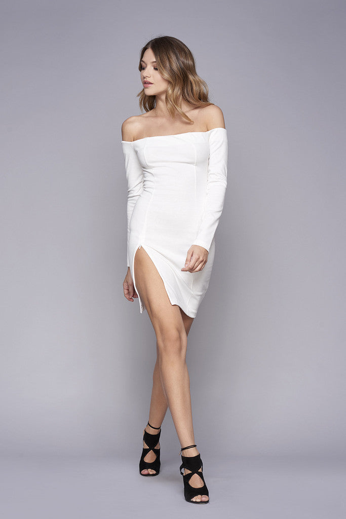 WYLDR Kali Off The Shoulder High Slit Dress - DRESSES - WYLDR - Free Vibrationz - 1