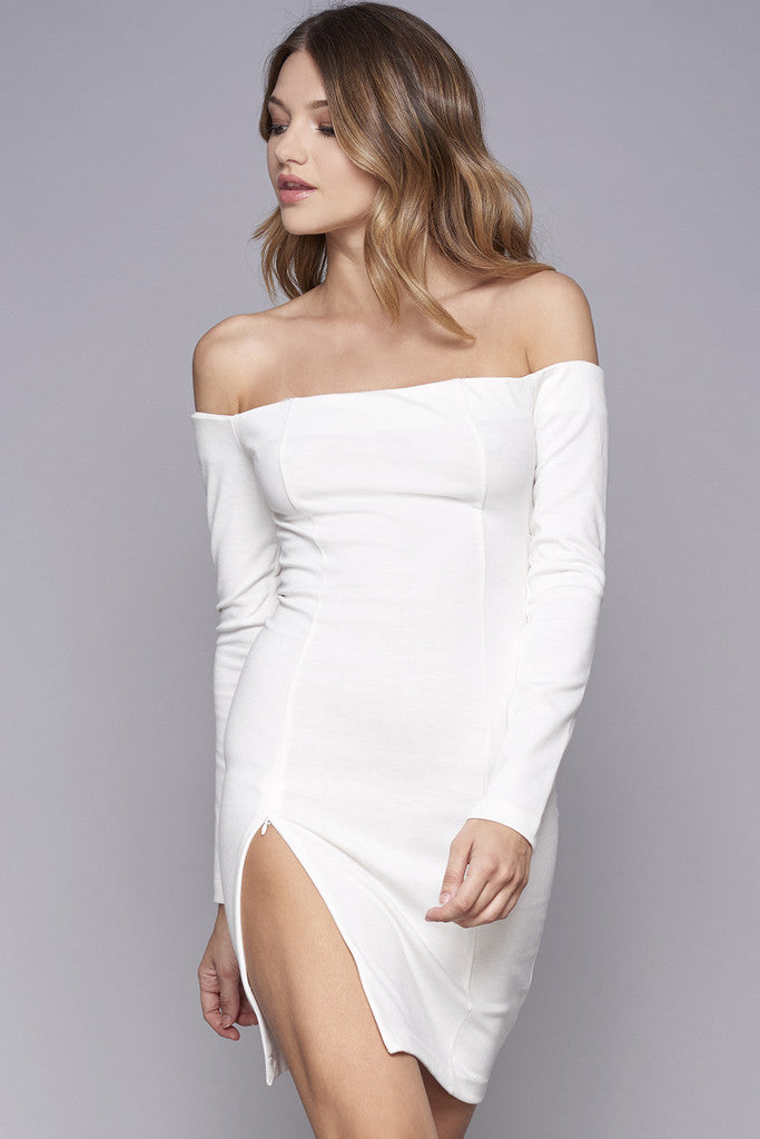 WYLDR Kali Off The Shoulder High Slit Dress - DRESSES - WYLDR - Free Vibrationz - 2