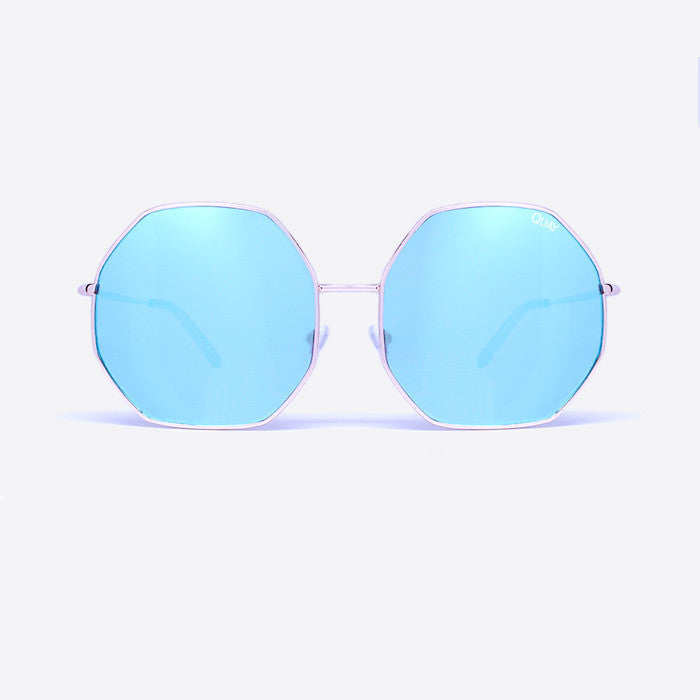 QUAY Kiss And Tell Sunglasses Blue