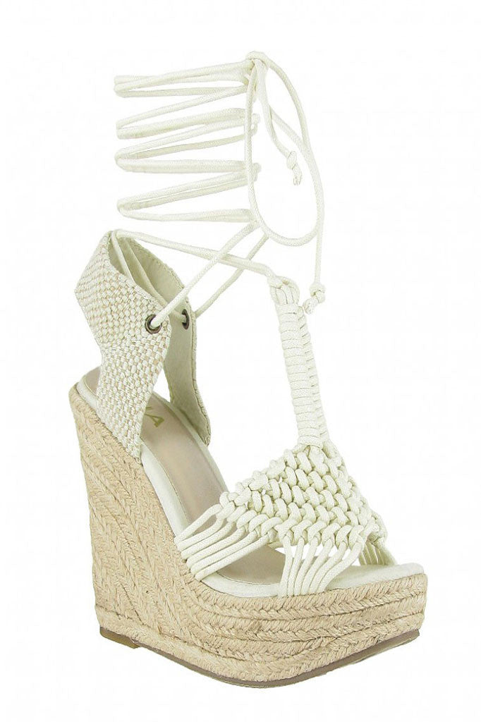 MIA Shoes Filipa Wedge Sandals- Shoes-MIA Shoes-Free Vibrationz