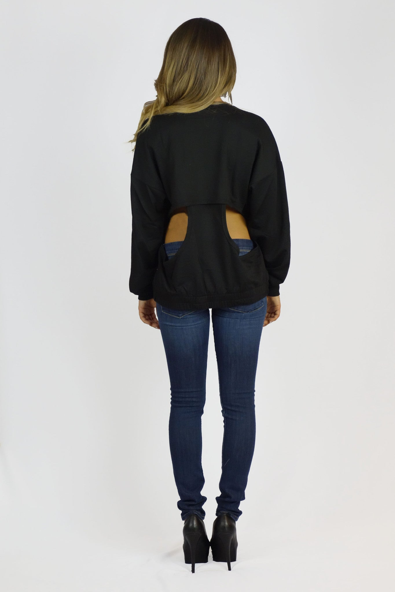Rehab Open Back Sweater - OUTERWEAR - REHAB - Free Vibrationz - 3