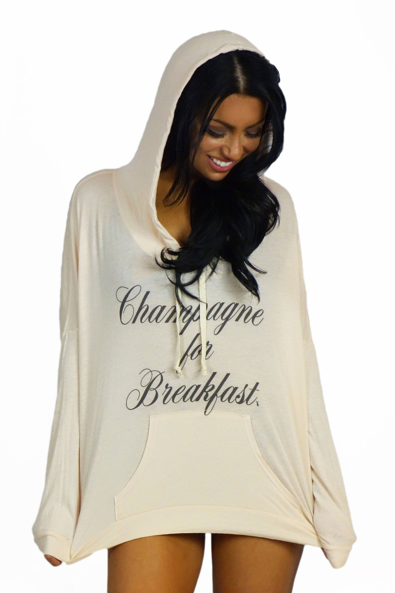 Royal Rabbit Champagne for Breakfast Sweater - OUTERWEAR - ROYAL RABBIT - Free Vibrationz - 2