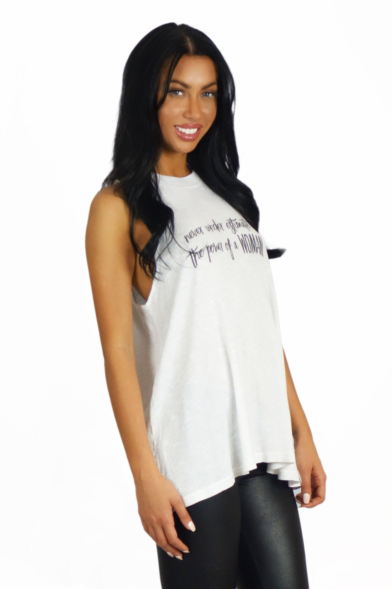 Royal Rabbit Power Of A Woman Muscle Tee - TOPS - ROYAL RABBIT - Free Vibrationz - 3