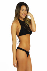 Soah Luca Lace Halter Top Black - SWIMWEAR - SOAH - Free Vibrationz - 2