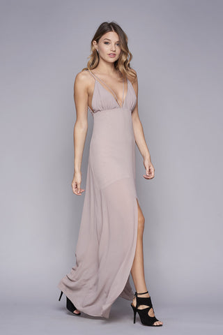 WYLDR Stay With Me Plunge Maxi Dress - DRESSES - WYLDR - Free Vibrationz - 2
