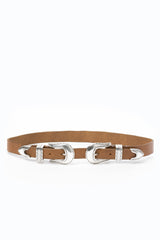Stillwater The Double Buckle Belt - Natural - ACCESSORIES - STILLWATER - Free Vibrationz - 3