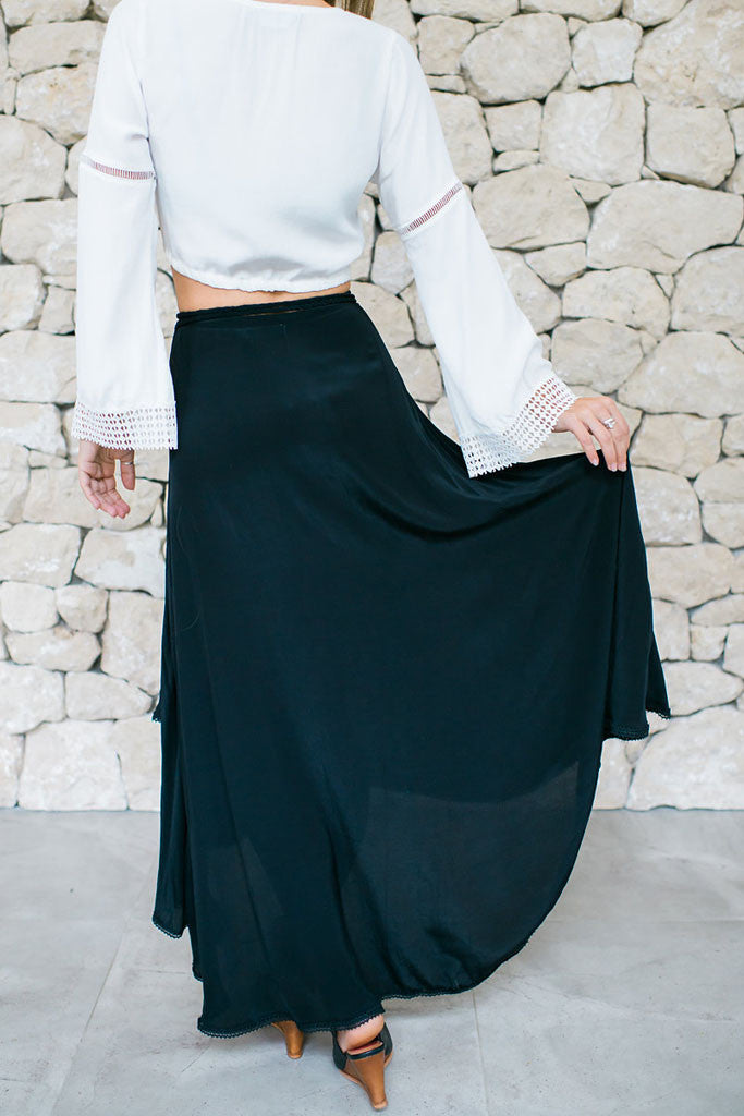 Sea Dreamer Classic Wrap Skirt Black - BOTTOMS - Sea Dreamer - Free Vibrationz - 7