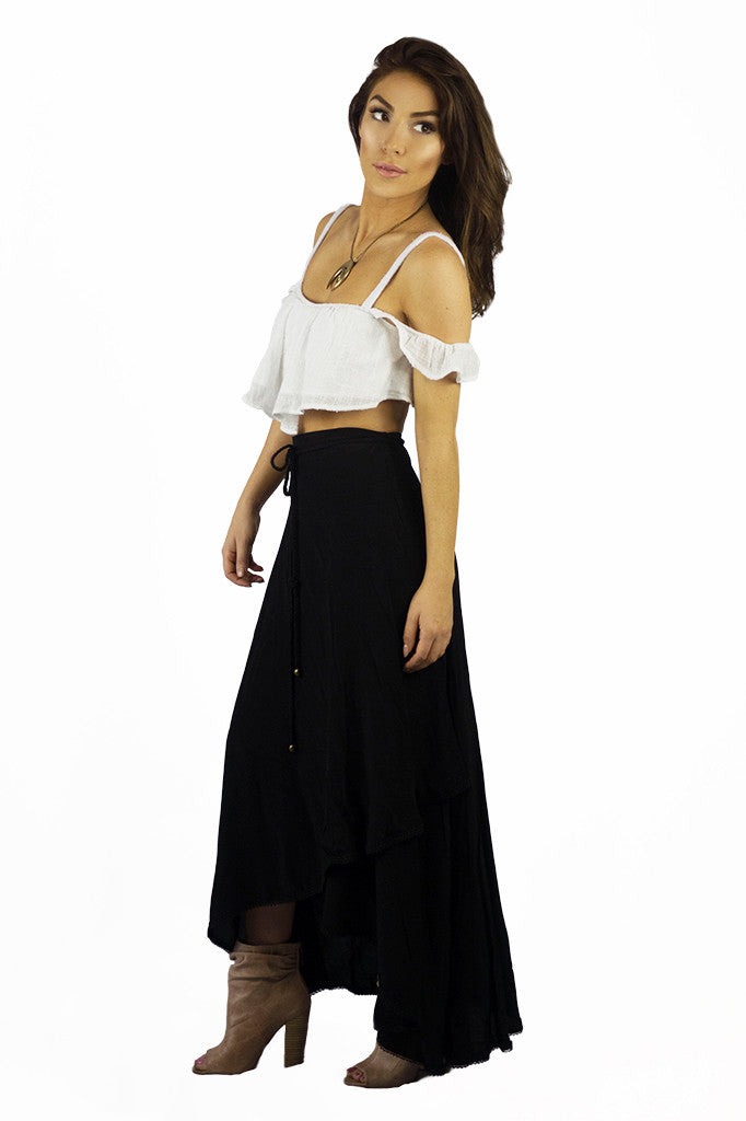 Sea Dreamer Classic Wrap Skirt Black - BOTTOMS - Sea Dreamer - Free Vibrationz - 2