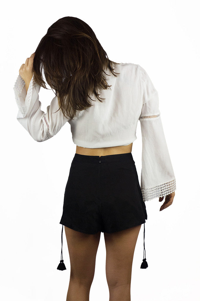 The Jetset Diaries Sunset Shorts Black - BOTTOMS - The JetSet Diaries - Free Vibrationz - 5