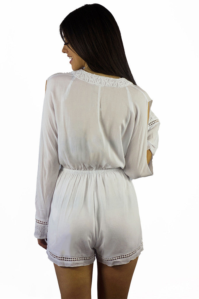 Somedays Lovin Nadin Lace Plunging Playsuit Cream - ONSIES - SOMEDAYS LOVIN - Free Vibrationz - 12