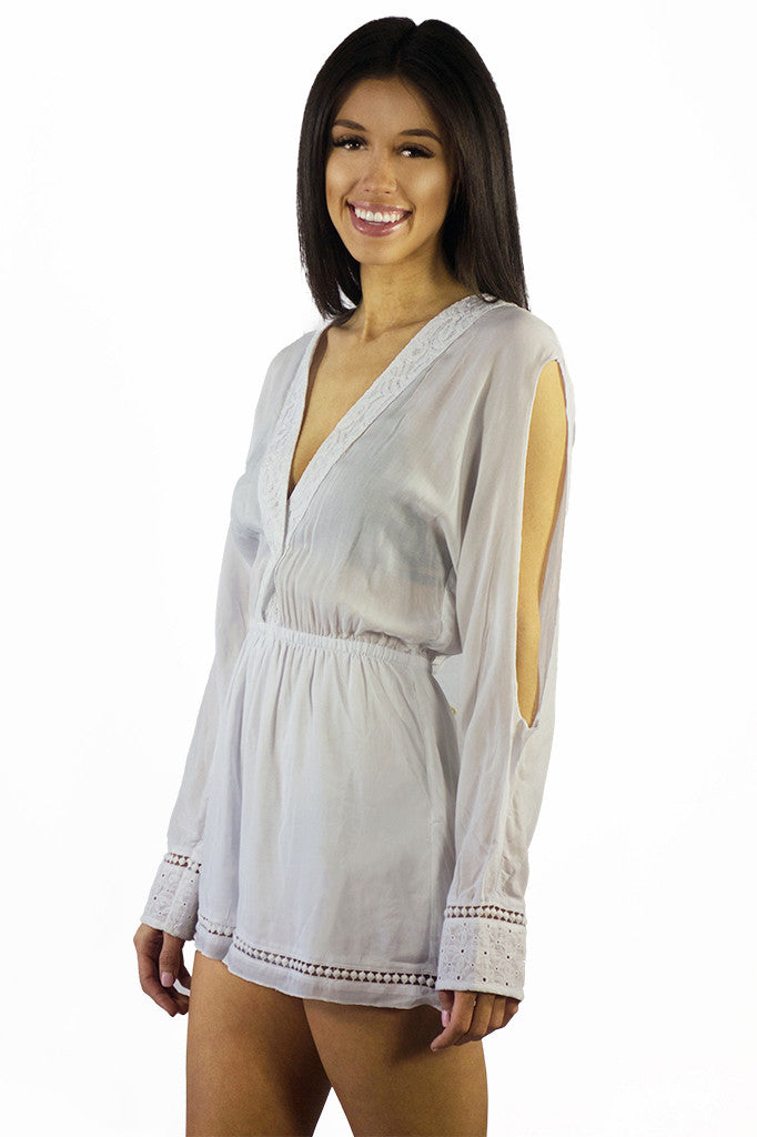 Somedays Lovin Nadin Lace Plunging Playsuit Cream - ONSIES - SOMEDAYS LOVIN - Free Vibrationz - 11
