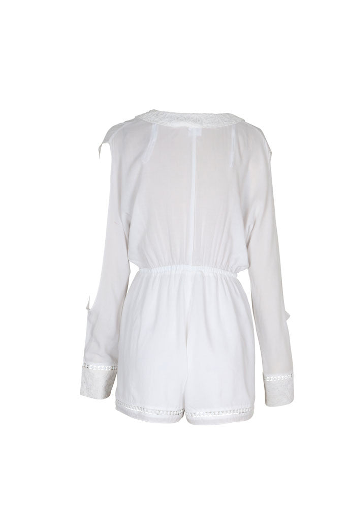 Somedays Lovin Nadin Lace Plunging Playsuit Cream - ONSIES - SOMEDAYS LOVIN - Free Vibrationz - 9