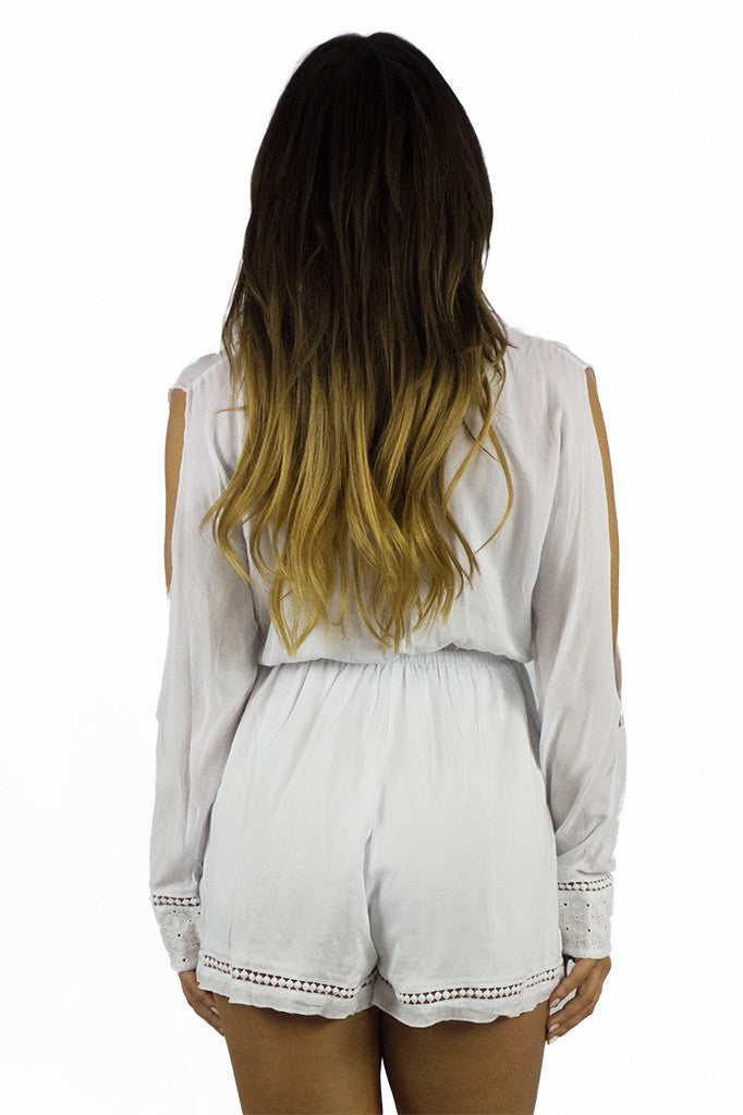 Somedays Lovin Nadin Lace Plunging Playsuit Cream - ONSIES - SOMEDAYS LOVIN - Free Vibrationz - 7