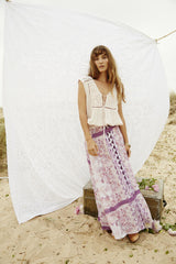 Somedays Lovin Sudden Sky Maxi Skirt Floral - BOTTOMS - SOMEDAYS LOVIN - Free Vibrationz - 4