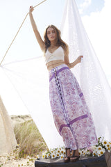 Somedays Lovin Sudden Sky Maxi Skirt Floral - BOTTOMS - SOMEDAYS LOVIN - Free Vibrationz - 5