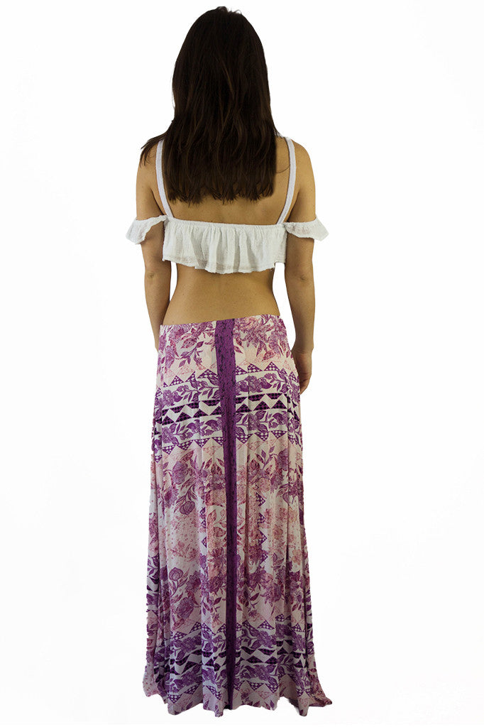 Somedays Lovin Sudden Sky Maxi Skirt Floral - BOTTOMS - SOMEDAYS LOVIN - Free Vibrationz - 3