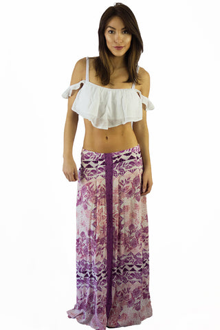 Somedays Lovin Sudden Sky Maxi Skirt Floral - BOTTOMS - SOMEDAYS LOVIN - Free Vibrationz - 1