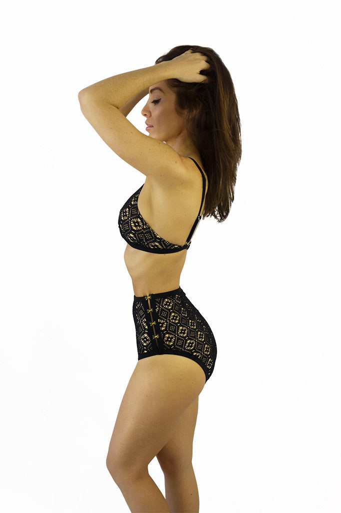Somedays Lovin Lighthouse Black Lace Bikini Bottoms - SWIMWEAR - SOMEDAYS LOVIN - Free Vibrationz - 4