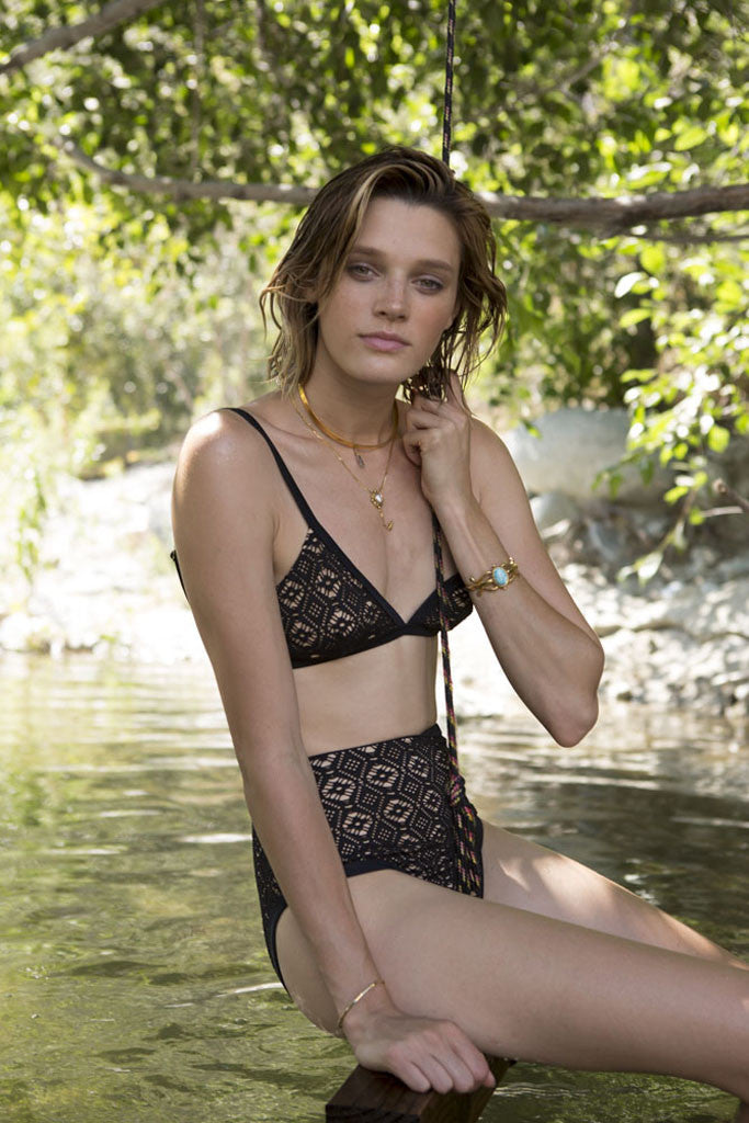 Somedays Lovin Lighthouse Black Lace Bikini Top - SWIMWEAR - SOMEDAYS LOVIN - Free Vibrationz - 6