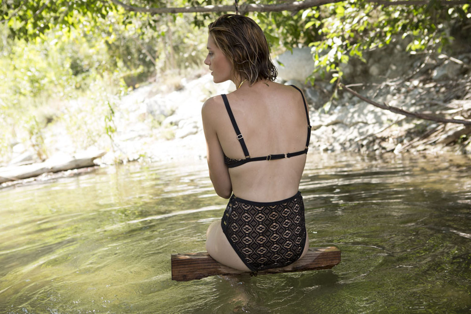 Somedays Lovin Lighthouse Black Lace Bikini Bottoms - SWIMWEAR - SOMEDAYS LOVIN - Free Vibrationz - 10