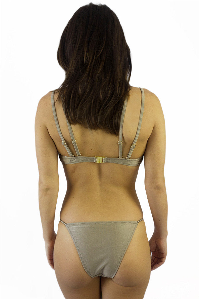 Somedays Lovin Unity Strappy Bikini Bottom Gold - SWIMWEAR - SOMEDAYS LOVIN - Free Vibrationz - 2