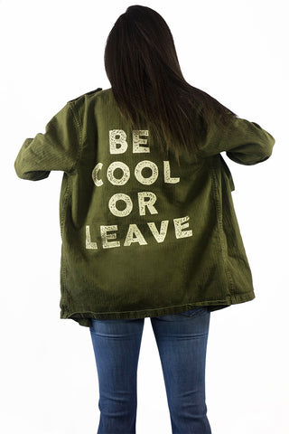 Stillwater Be Cool Or Leave Military Shirt Jacket - OUTERWEAR - STILLWATER - Free Vibrationz