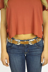 Stillwater The Double Buckle Belt - Natural - ACCESSORIES - STILLWATER - Free Vibrationz - 2
