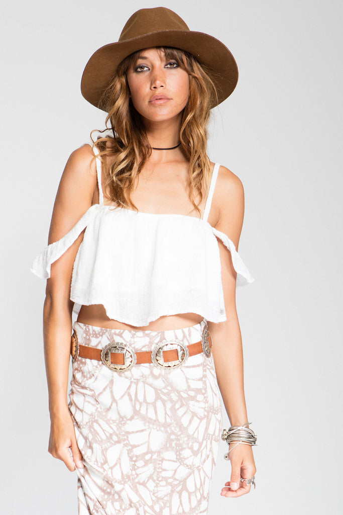 Stillwater The So Little Crop Top White - TOPS - STILLWATER - Free Vibrationz - 1