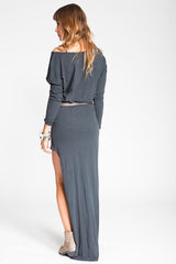 Stillwater The Mojave Maxi Tee Dress Black - DRESSES - STILLWATER - Free Vibrationz - 3