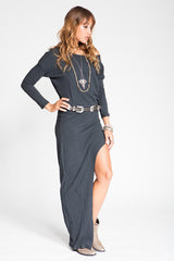 Stillwater The Mojave Maxi Tee Dress Black - DRESSES - STILLWATER - Free Vibrationz - 2